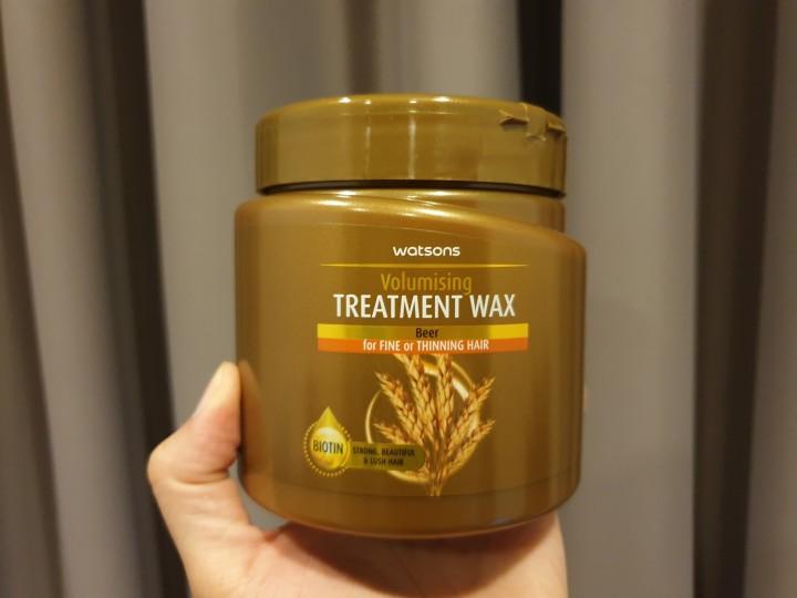 โฉมใหม่ Watsons Treatment wax Beer วัตสัน ทรีทเม้นท์ แวกซ์ เบียร์ แก้ปัญหาเส้นผมอยู่หมัด