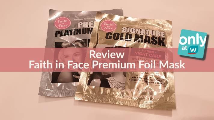 รีวิวมาส์กฟอยด์ที่มีขายเฉพาะที่วัตสัน! [Faith in Face Premium FoilMask]